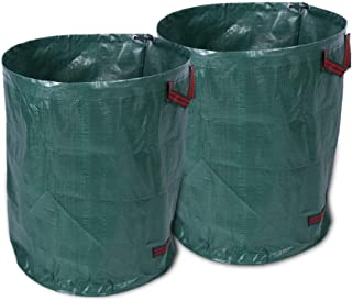 Yuehuam 2 Pack 72 Gallons Garden Bag, Reuseable Heavy Duty Gardening Bags with Handle Lawn Pool Garden Leaf Waste Bag
