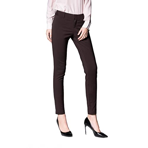 e87ce9afe2384 SATINATO Women s Straight Pants Stretch Slim Skinny Solid Trousers Casual  Business Office