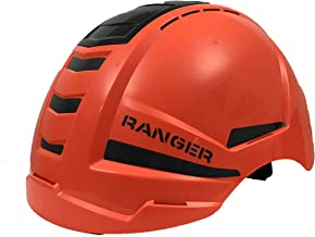 ENHA Rockman Ranger Construction Safety Helmet with Crash Box, Eye and Ear Protection, and Chin Straps - Fits Both Men and Women - ANSI, ISEA, ISO 9001 Quality Certified