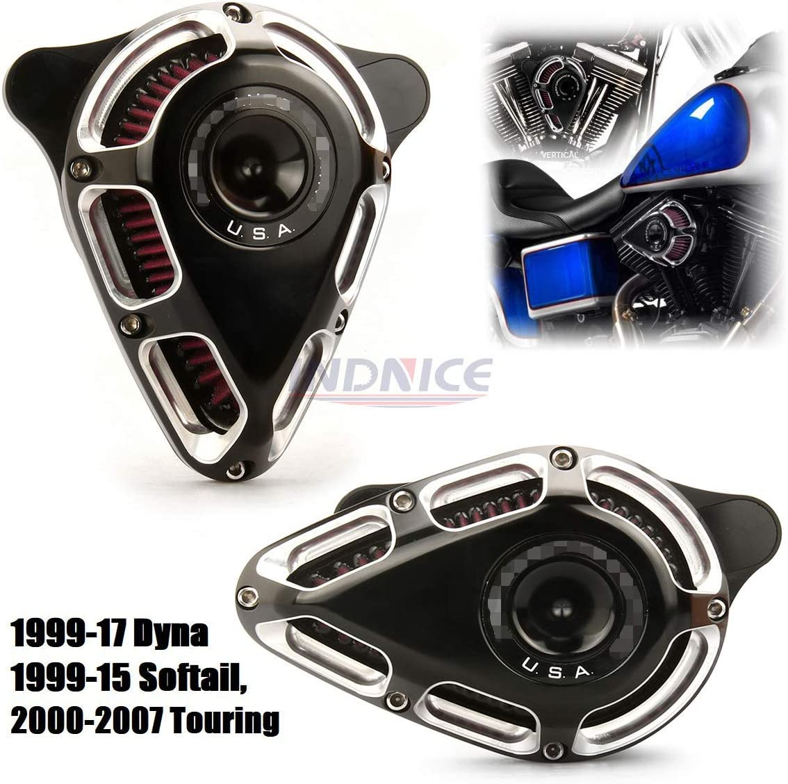 Turnable edge cut Genuine Free Shipping Air intake breather Fatboy Harley FLST For Fit Spring new work