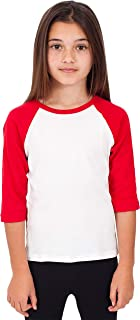 Kids Raglan 3/4 Sleeves Baseball Tee