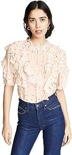 Rebecca Taylor Women's Short Sleeve Glitter Top