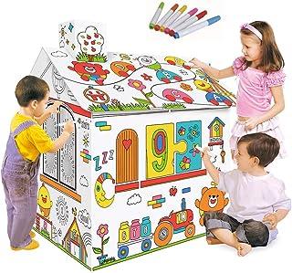 decdeal DIY gran cartón para colorear (artesanía decorativo Playhouse, proyecto de 2,2patas de altura assembler y paleta de los juguetes éducatifs, regalo de Navidad para niños