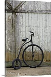Replica of an Old Penny-Farthing Bicycle Also Known As A High-Wheeler Canvas Wall Art Print, 32.