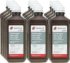 Dealmed Hydrogen Peroxide 3% USP, First Aid Antiseptic, 16 fl. oz, (12 pk.)