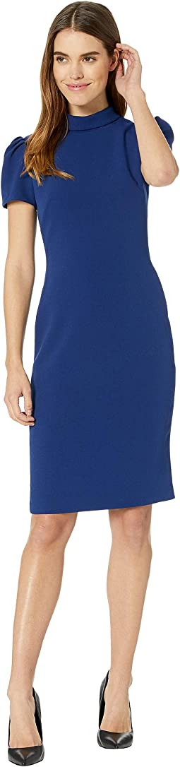 Roll Collar Sheath Dress
