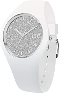 Ice-Watch - ICE Glitter White Silver - Women's Wristwatch with Silicon Strap