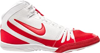 white nike freeks wrestling shoes