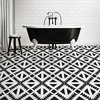 Aztec Tile Stencil - Cement Tile Stencils - DIY Geometric Tiles - Reusable Stencils for Home Makeover (Medium)