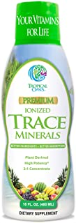 Tropical Oasis - Premium Ionized Plant Based Trace Minerals Liquid Formula- 74 essential minerals in liquid form for up to...