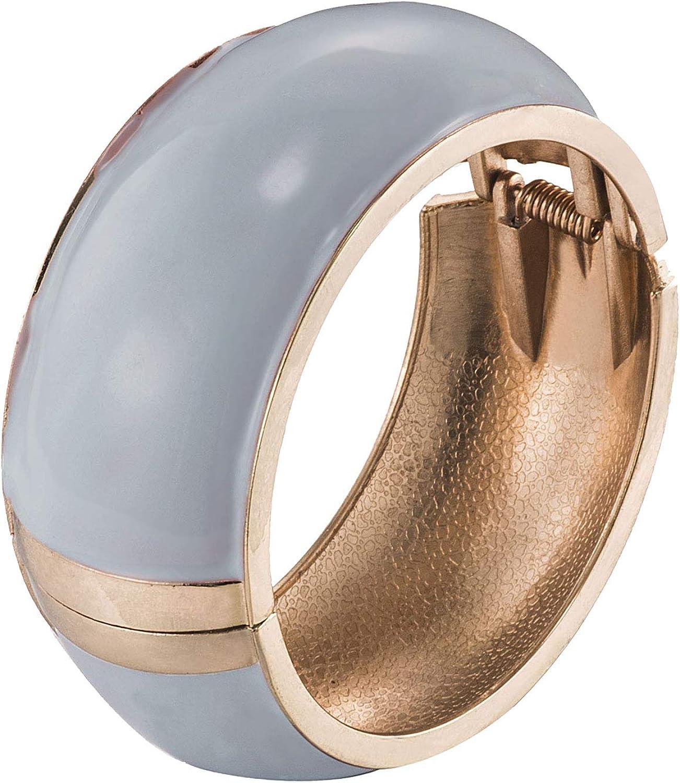UJOY Women's Handmade Bracelet Statement Wide Colors Cuff Spring Hinged Bangle Jewelry Gift 7759