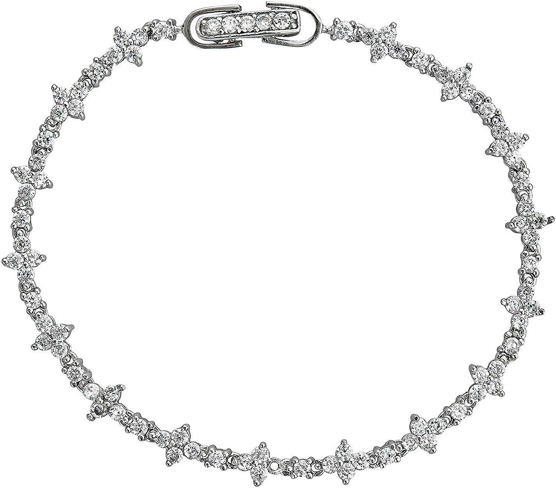 Sterling Silver Clover Cubic Regular dealer Zirconia Cheap mail order sales Tennis Bracelet