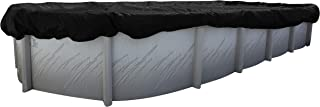 Buffalo Blizzard Deluxe Winter Cover for 12-Foot-by-24-Foot Oval Above Ground Swimming Pools | Blue/Black Reversible | 3-Foot Additional Material for Secure Installation