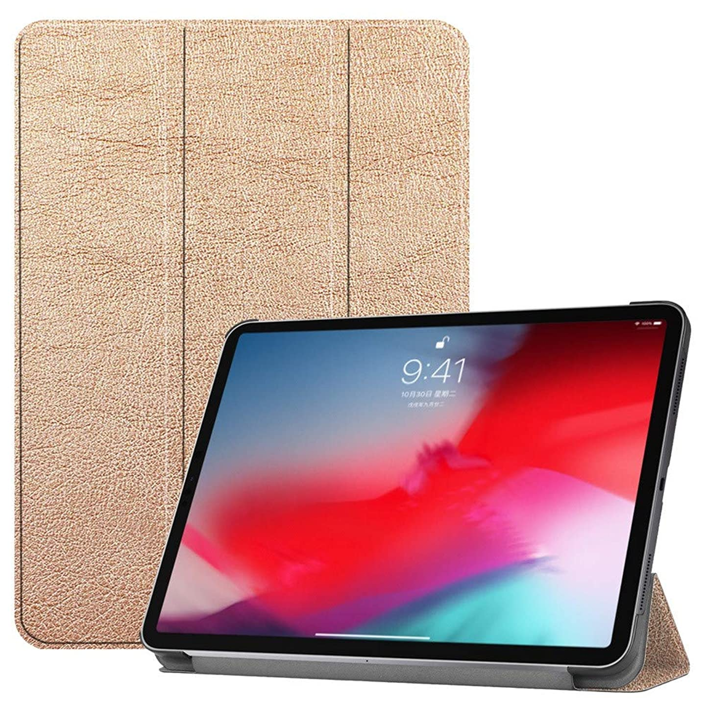 Ikevan Table Case For iPad Pro 11 inch 2018 Case Flipshell Smart Stand Cover with Auto Sleep/Wake (Rose Gold)