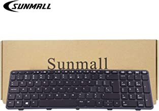 SUNMALL New Laptop Keyboard Replacement with Backlit and Big Enter Key Compatible with HP Probook 450 G0 450 G1 Series Black US Layout(6 Months Warranty)