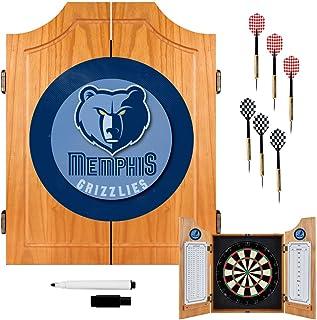 NBA Memphis Grizzlies Wood Dart Cabinet Set