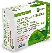 Centella asiatica complex 2500 mg 60 cápsulas vegetales con castaño de indias, vid roja, ginkgo biloba y vitamina B-6