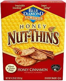 Blue Diamond Almond Nut Thins Cracker Crisps, Honey Cinnamon, 4.25 Ounce