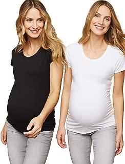 Motherhood Maternity Women's Maternity BumpStart 2 Pack Short Sleeve Tee Shirts
