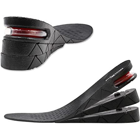 2-4cm Height Increase Insole Heel Lift Insert Shoe Pad Rising Cushion Taller