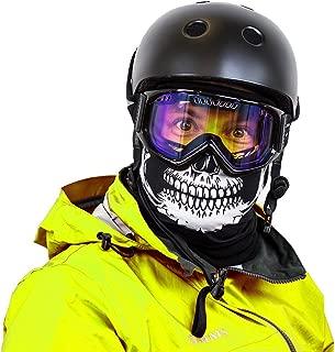 Sub Zero Seamless Fleece Face Mask & Neck Warmer Combo Great for Skiing, Ice Skating, Ice Hockey, Sledding, Ice Fishing, Snowboarding & Snowmobiling