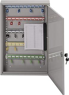 Sterling KC50H Single Door Key Cabinet with 50 Hooks, Grey