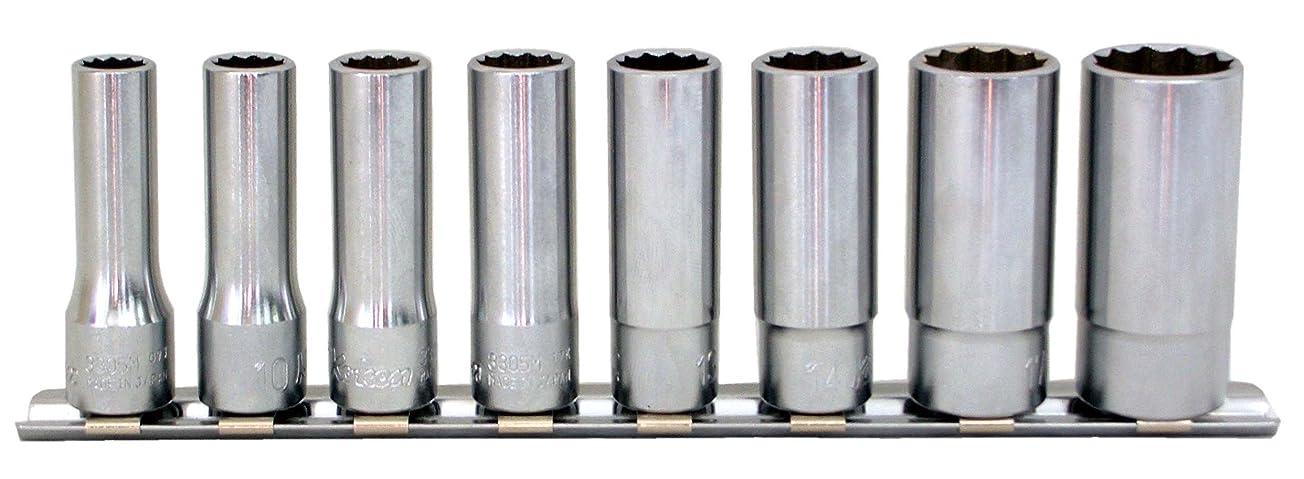 不完全なショッキング協力するコーケン 3/8(9.5mm)SQ. 12角ディープソケットレールセット 8ヶ組 RS3305M/8