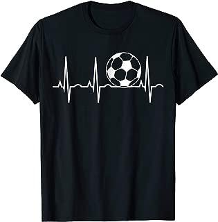 Soccer Heartbeat T-Shirt - Soccer Ball Heartbeat Tee