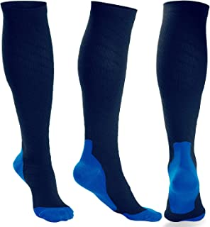3 Pairs Compression Socks Women and Men - Athletic Fit For Running,Travel,Recovery,Pregnancy & Medical