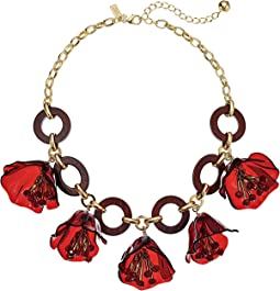 Slice of Stone Link Statement Necklace