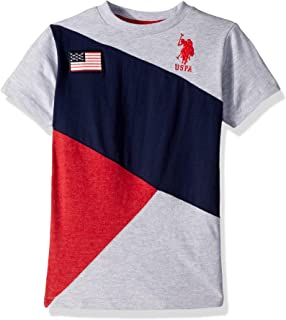U.S. Polo Assn. Boys Classic Cut and Sew Flag T-Shirt Short Sleeve T-Shirt