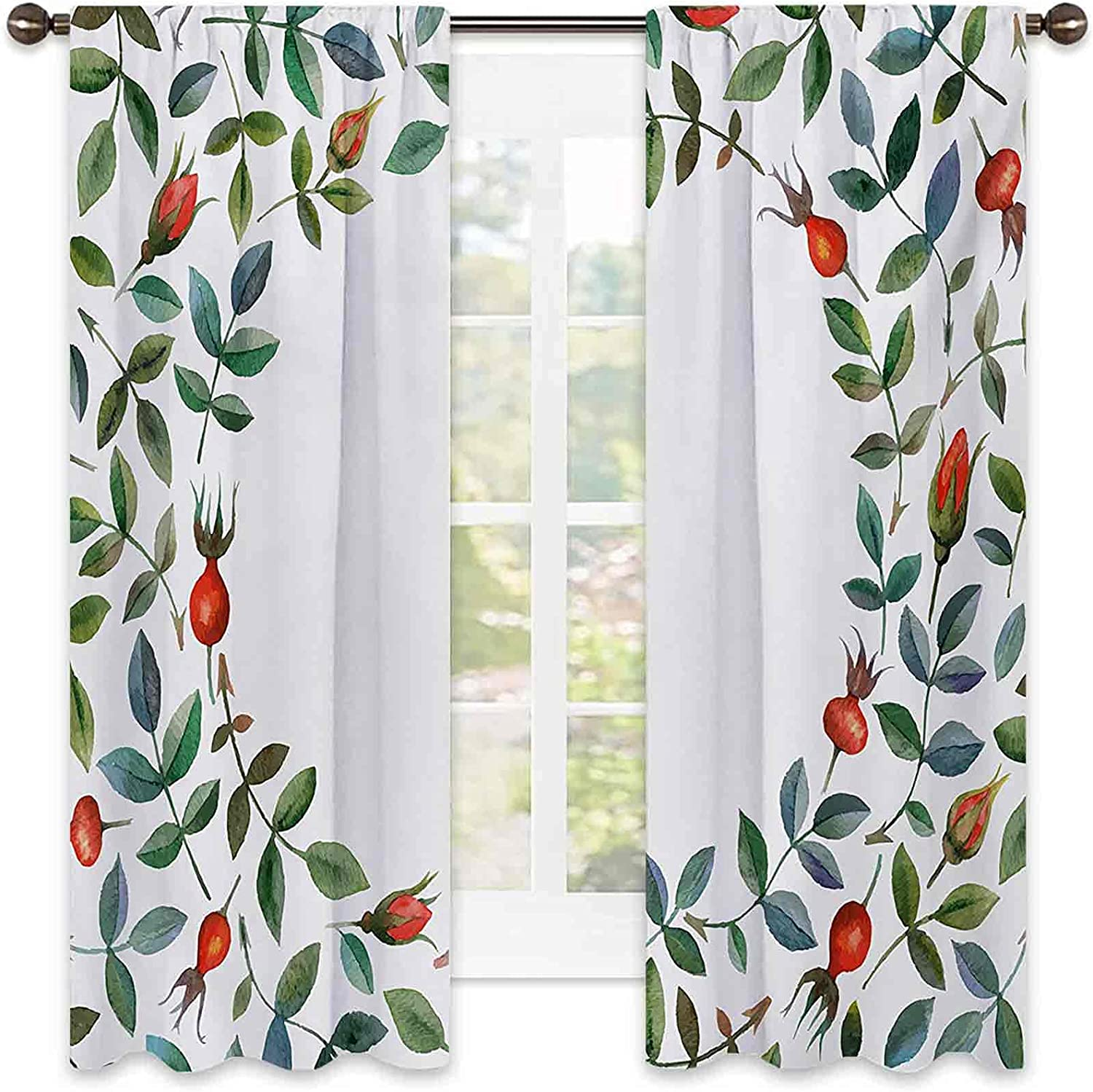 Floral Heat Insulation Curtain Christmas Like Buds 2021 Frame Sales for sale Image