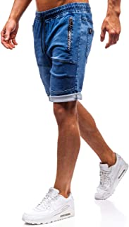 BOLF Hombre Pantalón Corto Pantalones Vaqueros Denim