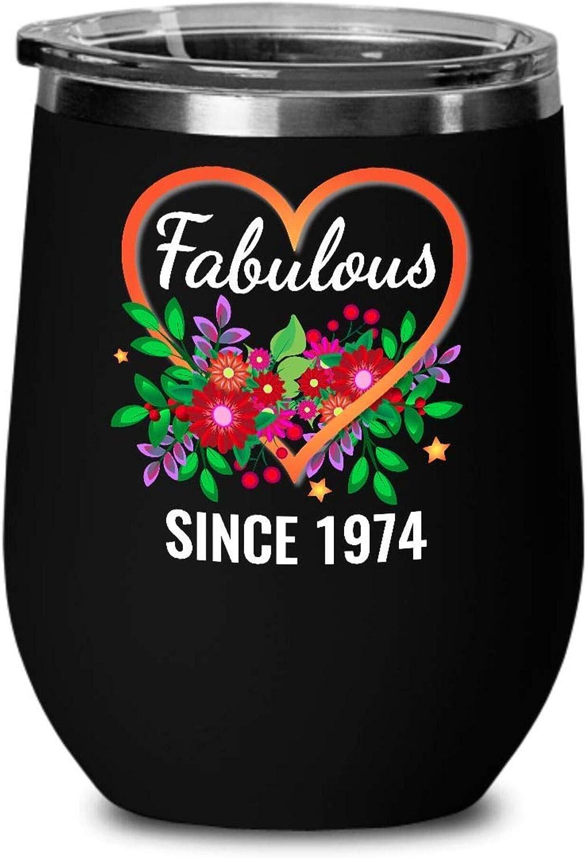 46TH BIRTHDAY Wine 大注目 Tumbler - Fabulous SALENEW大人気 Since 1974 48UDZZ