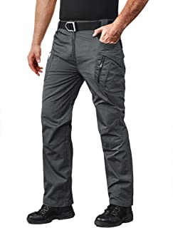 MAGCOMSEN Men's Tactical Pants with 9 Pockets Rip-Stop Lightweight Work Hiking Pants