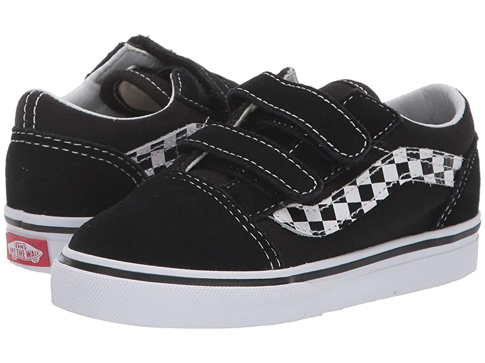 Vans Kids Old Skool V (Infant/Toddler) ((Sidestripe V) Black/True White) Boys Shoes