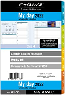 """$20 » 2022 Daily & Monthly Planner Refill by AT-A-GLANCE, 13690 13746 Day-Timer, 5-1/2"""" x 8-1/2"""", Size 4, Two Page per Day, Zens..."""