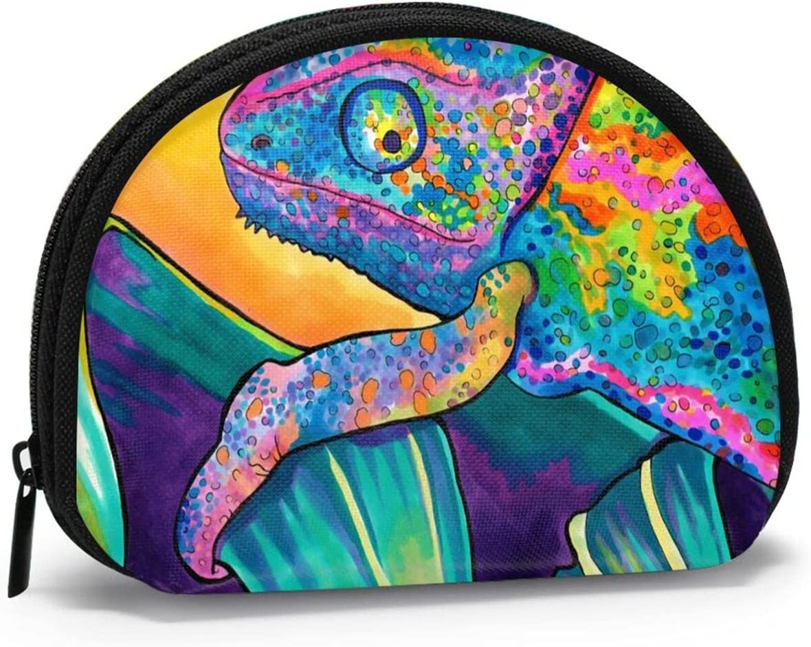 Cute Fashion Coin Purse,Animal Art Lizard Small Zipper Wallet Change Pouch Holiday Gifts For Girls