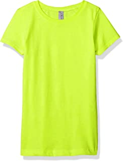 Clementine Apparel Little Girl Crew Short Sleeve Casual Basic T Shirt Top Tee