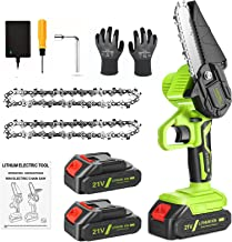Sponsored Ad – CQWLKEJ Mini Chainsaw Cordless Electric Chain Saw, 4-Inch Rechargeable Battery Chainsaw with Safety Lock an...
