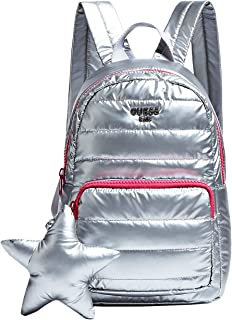 Guess Star Padded Laminated-Look Backpack