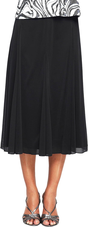 Alex Evenings Women's MESH Skirt