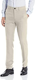 heymoney Mens Slim Fit Wrinkle-Free Stretch Pants Classic Fit Flat Front Trousers