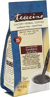 Teeccino Loose Leaf Dandelion Chai Tea – Red Chai – Roasted Herbal Tea   Organic Dandelion Root   Chicory   Prebiotic   Caffeine Free   Gluten Free   Acid Free   Medium Roast, 10 ounce