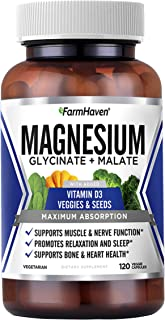 Sponsored Ad - FarmHaven Magnesium Glycinate & Malate Complex, 100% Chelated for Max Absorption, No Laxative Effect, Vegan...