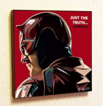 Daredevil Marvel DC Comics Super Hero Motivational Quotes Wall Decals Pop Art Gifts Portrait Framed Famous Paintings on Acrylic Canvas Poster Prints Artwork Geek (10x10