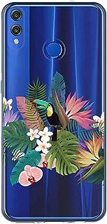 Oihxse Case Transparente Suave TPU Compatible con Huawei Nova 3 Funda [Lindo Caricatura Flor Serie Dibujos] Cristal Protector Carcasa Anti Rasguños Bumper Cover-Loro