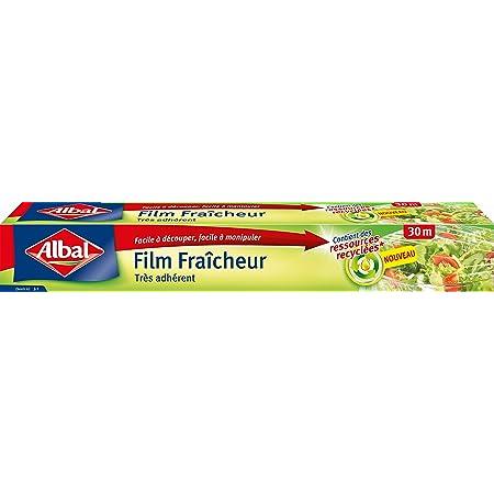 Albal Film Alimentaire, Extra Large 32,5 cm, Facile a Decouper, 30 m, Film Fraîcheur