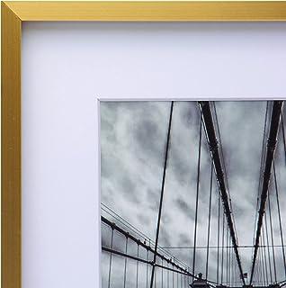 Cooper & Co. Homewares A2 Matt to A3 Premium Metallicus Metal Photo Frames, Gold (Model: PF0019GD)
