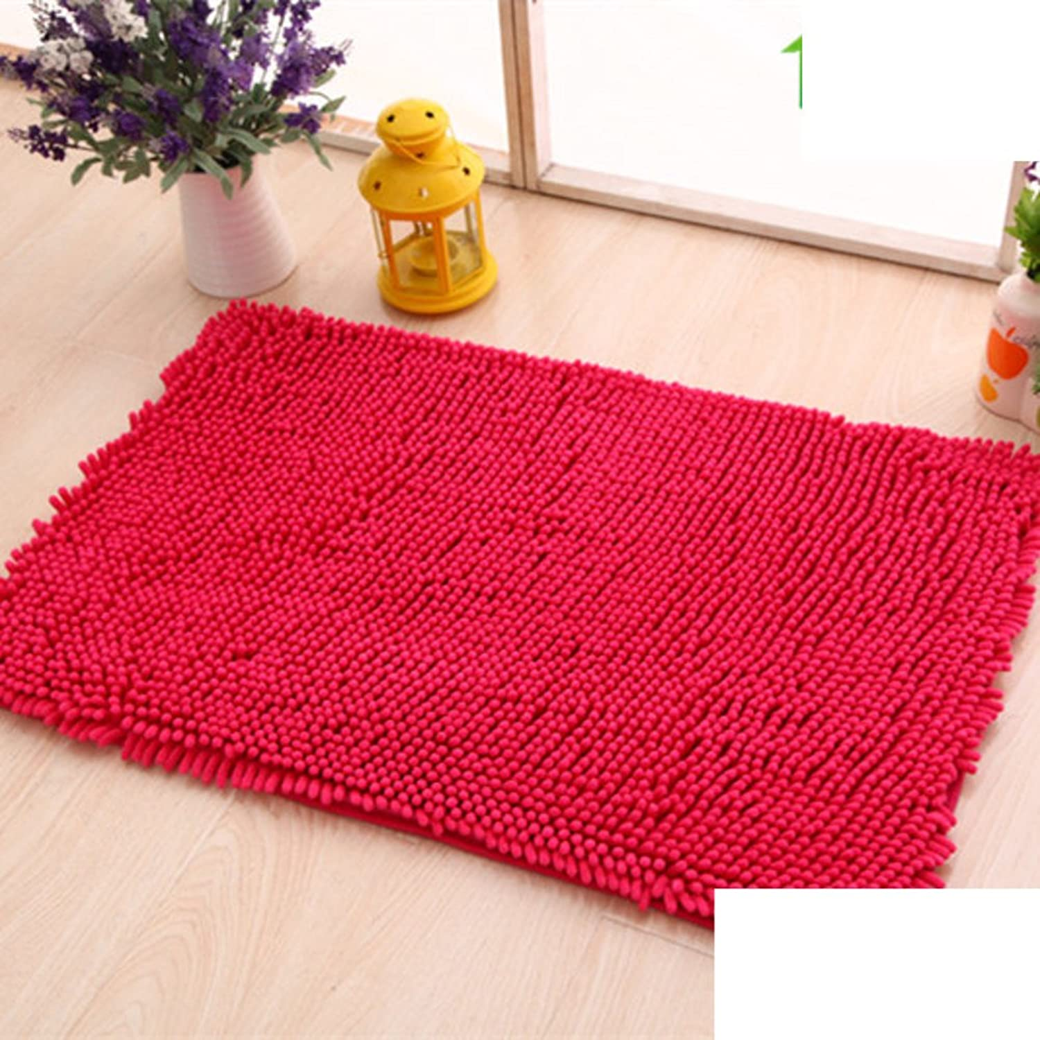 Simple mats Doormat Door [Living Room] Kitchen Floor mats Bathroom Foot Pad Water Absorption and Anti-skidding mat-K 70x140cm(28x55inch)